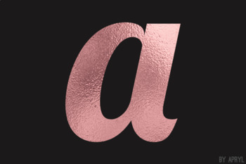 Rose Gold Foil Alphabet Clip Art Metallic Look 81 PNG Images Letters Numbers