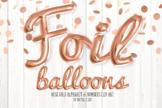 Rose Gold Foil Balloon Alphabet