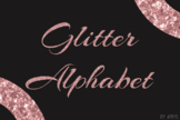Rose Gold Glitter Alphabet Clip Art Metallic Look 81 PNG I