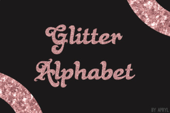 Rose Gold Glitter Alphabet Clip Art Metallic Look 81 PNG Images Letters Numbers
