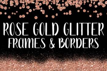 rose gold glitter frames and borders clip art 64 png files