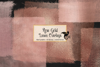 Rose Gold Linen Overlays, texture png clipart