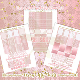 Rose Gold Printable Planner Stickers Weekly Kit