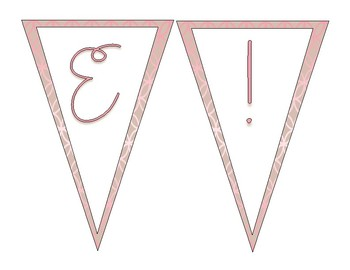 Rose Gold Welcome Banner