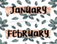 Rose Gold and Palm Classroom Calendar
