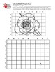 Rose Flower Grid Drawing Worksheet for Middle/High Grades