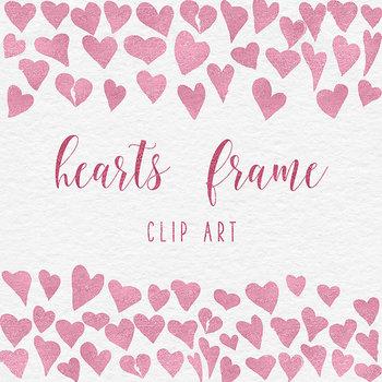 Rose Heart Frames Clipart
