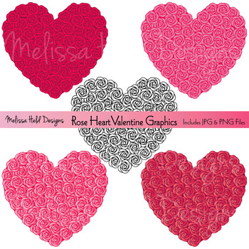 Rose Heart Valentine Graphics
