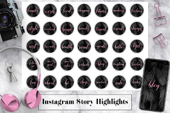 Rose Instagram Highlight Icons, Palm Leaves Instagram Icons