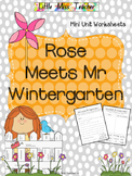 Rose Meets Mr Wintergarten - Mini Unit Worksheets & Printables
