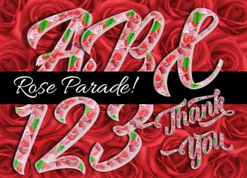 "Rose Parade Alphabet! - 300 DPI - PDF & PNGs - 2.75"" High - Elegant & Decorative"