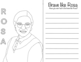 "Rose Parks ""Brave Like Rosa"" Writing Activity"