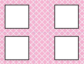 Rose Pink Tile Classroom Tags and Labels