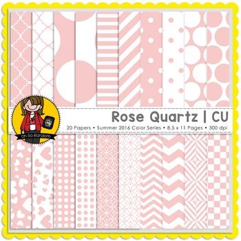 Rose Quartz Digital Papers {CU}