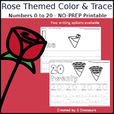 Rose Themed Number Color and Trace