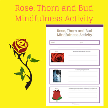 Rose, Thorn and Bud mindfulness actitiy