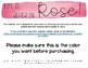 Rose Watercolor Calendar Set
