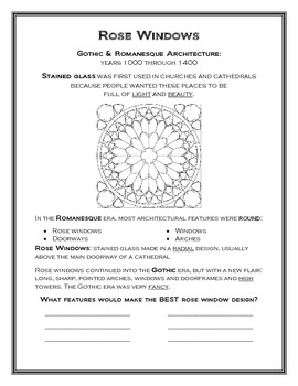 Rose Windows Overview--Romanesque/Gothic Architecture