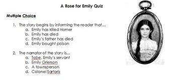 A Rose for Emily Unit Bundle