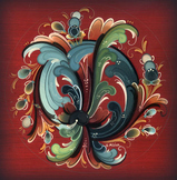 Rosemaling from Norway