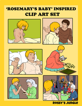 Rosemary's Baby inspired Clip Art set