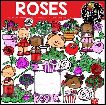 Roses Clip Art Set {Educlips Clipart}