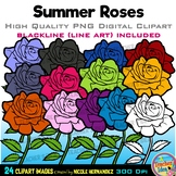 Roses Clipart | Summer Clip Art for Personal and Commercial Use