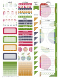 Roses - Teacher Planner Weekly Layout Stickers