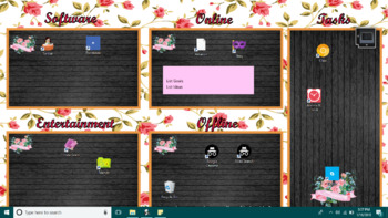 Roses Learning Mode Theme Screen Organizer & Personalization