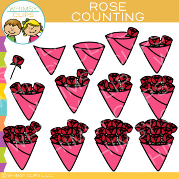 Roses Valentine Counting Clip Art