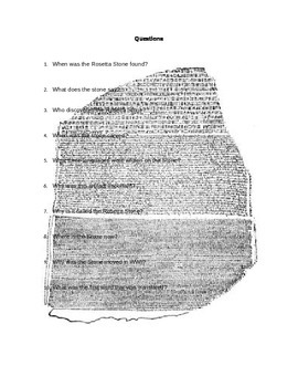 Rosetta Stone Reading and Questions
