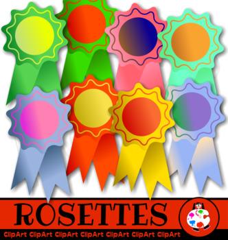 Rosette Ribbon Award Clip Art