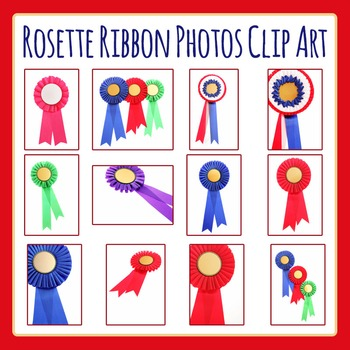 Rosettes / Winner's Ribbons  Photo / Photograph Clip Art Set for Commercial Use