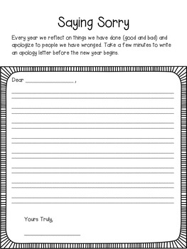 Rosh Hashanah Activity Packet