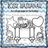 Rosh Hashanah - Collage - Literacy - print and go!