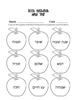 Rosh Hashanah Jewish New Year Lesson Plans and More