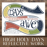 Rosh Hashanah & Yom Kippur Craft Activity, Days of Awe Tracker