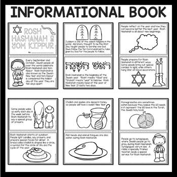 Rosh Hashanah and Yom Kippur Coloring Book and Questions