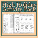 Rosh Hashanah and Yom Kippur High Holiday Activity Pack