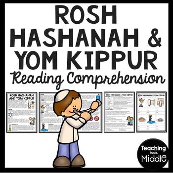 Rosh Hashanah and Yom Kippur Reading Comprehension Worksheet Judaism