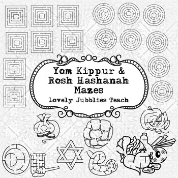 Rosh Hashanah and Yom Kippur Themed Mazes