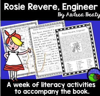 Rosie Revere, Engineer ~ A week of reading activities ~ comprehension pack