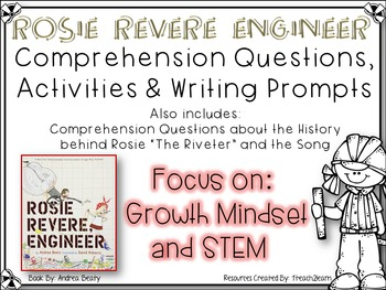Rosie Revere Engineer - Growth Mindset - Research, Reading Comprehension & STEM