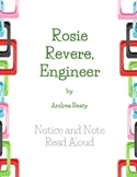 Rosie Revere, Engineer Notice and Note Signpost Read Aloud Guide