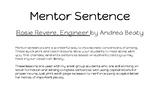 Rosie Revere, Engineer mentor sentence- capital letters POP