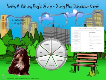 Rosie a Visiting Dog Story Comprehension Activities and Games