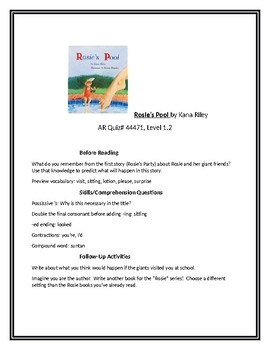 Rosie's Pool for Guided Reading