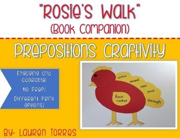 Rosie's Walk Preposition Craftivity-