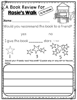 Rosie's Walk: Retelling Sticks