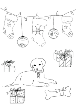 Rosie the Puppy Coloring Page from Ornaments of Love Coloring Book